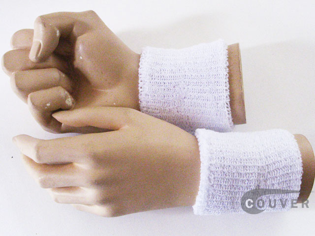 Cheap White Wristband Wholesale for Event & Promotion 6PAIRS