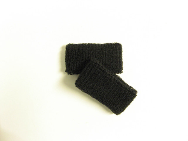 Plain Black Wristband