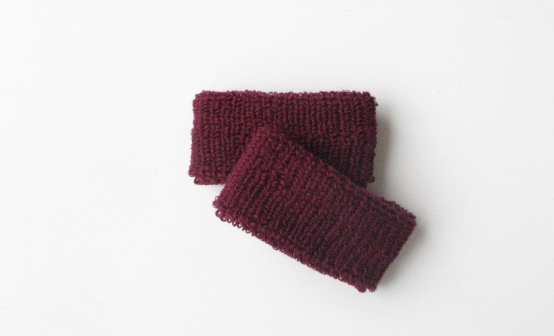 Maroon Kids Plain Wristband Wholesale for School Church [6pairs]