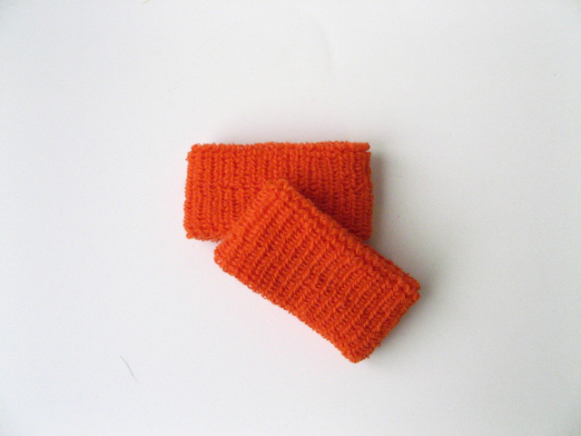 Dark Orange Kids Child Plain style Wristbands Wholesale [6pairs]