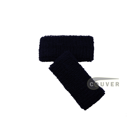 Navy 1inch Cheap Wristbands Wholesale Adult Size 6 PAIRS