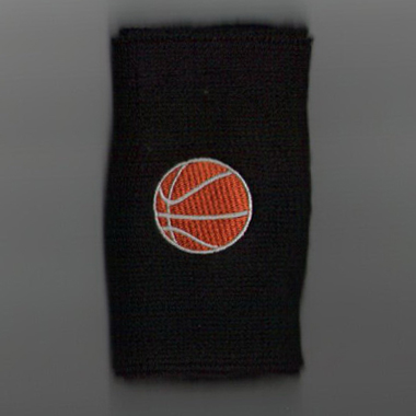 Custom basketball black wristband men's size sample