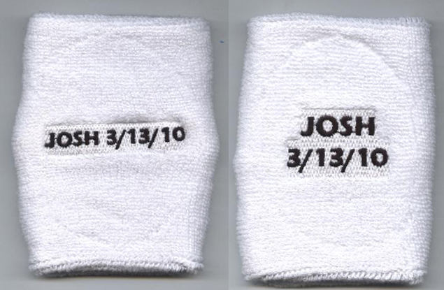 Custom white sweatbands (wrist sweatband) sample eeed9f7809b