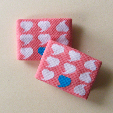 Cute girls pink wristband with white hearts