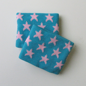 Cute Wristbands Cyan Stars Pattern for Girls and Children [2pairs]