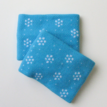 Cute Wristband for Girls and Children Cyan Dots Flower [2pairs]