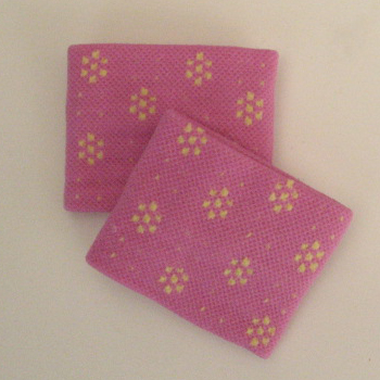 Cute Wristband for Girls Light Fuchsia Pink Dot Flower [2pairs]