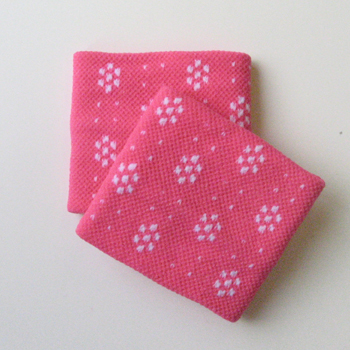 Cute Wristband for Girls Hot/bright pink Dots Flower [2pairs]