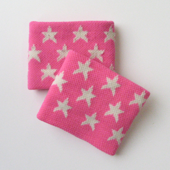 White Star on Bright-Pink Wristband for Girls Children [2pairs]