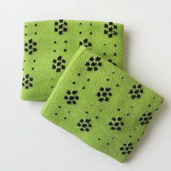 Cute Wristband for Girls yellowish green Dots Flower [2pairs]