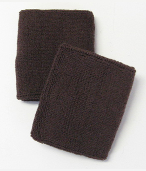 Dark Brown 4IN Wrist Sweatband (Sport Wristband) Wholesale 6PAIR
