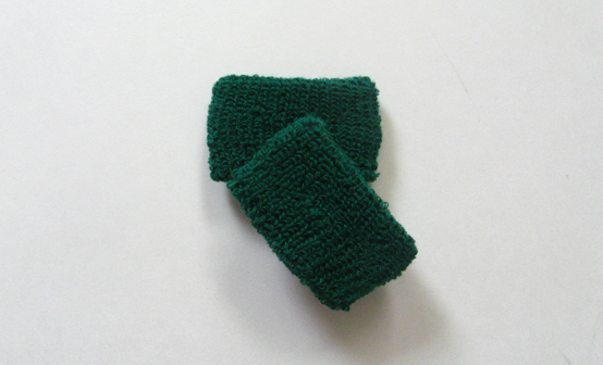 Dark green kids cheap terry wristbands wholesale