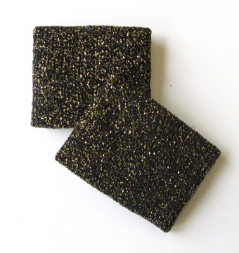 Cheerleading Glitter sparkling Black Gold Wrist band [2pairs]