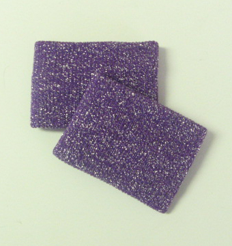 Wholesale Cheerleading Glitter sparkling Purple Wristband 2pairs