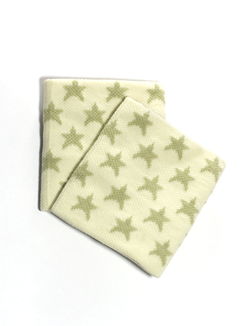 Gold Stars on White Wristbands for Girls and Teens [2pairs]