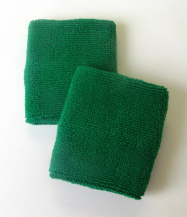 Green Mens 4IN Wrist Sweatband (Sport Wristband) Wholesale 6PAIR