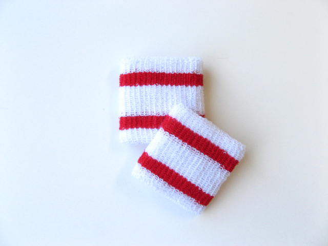 Wholesale Kids Youth Boys 2 Red Stripes Sweat Wristband [6pairs]