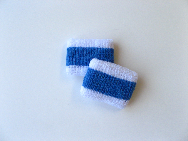Wholesale Kids & Youth Sky Blue Stripe Wristband [6pairs]