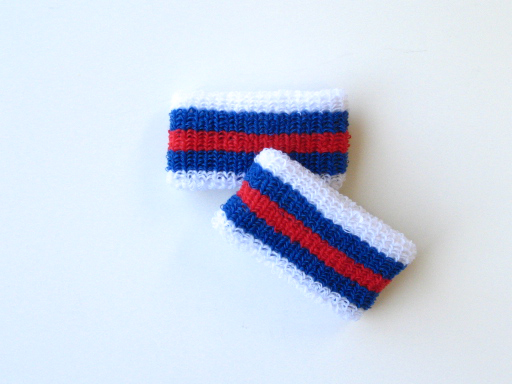 Wholesale Kids Youth Boys Red Blue Striped Wristbands [6pairs]