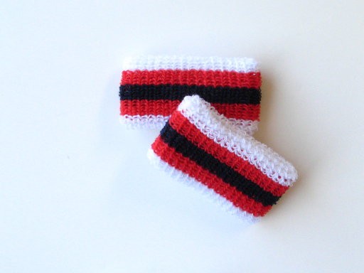 Wholesale Kids Youth Boys Black Reds Stripe Wristband [6pairs]