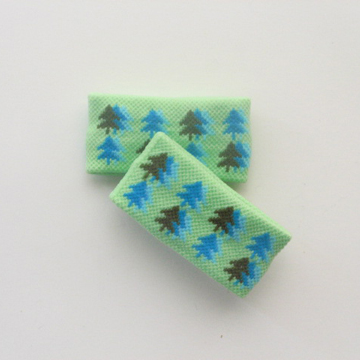 "Child Cute 1"" Short Tree Pattern Lime Green Wrist Bands [2pairs]"