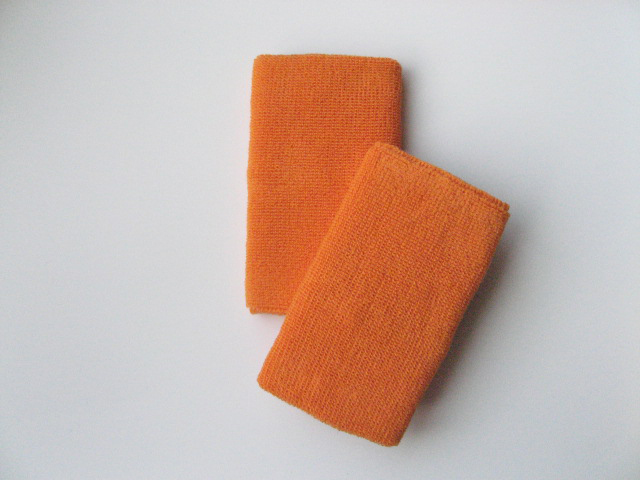 Extra-Longer 6inch Light Orange Wrist Sweatband Pro [3pairs]