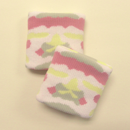 Pink camouflage wristbands urban style [3pairs]