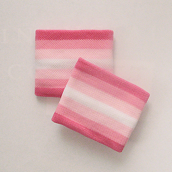 Pink light pink white striped cute wristbands for girls