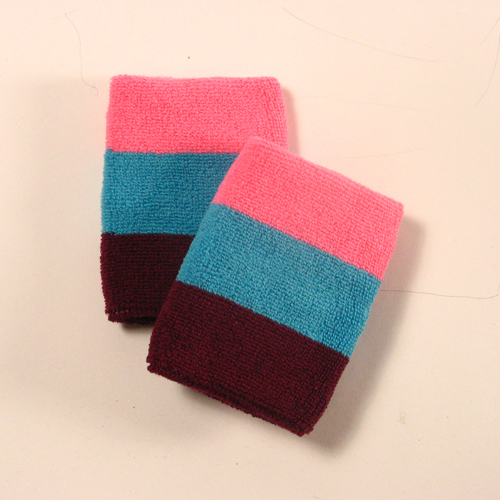 Pink sky blue maroon sweatbands for sports