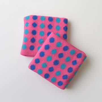 Childs Kids Pink Polka-Dot Wristband for Girls and Teens 2pairs