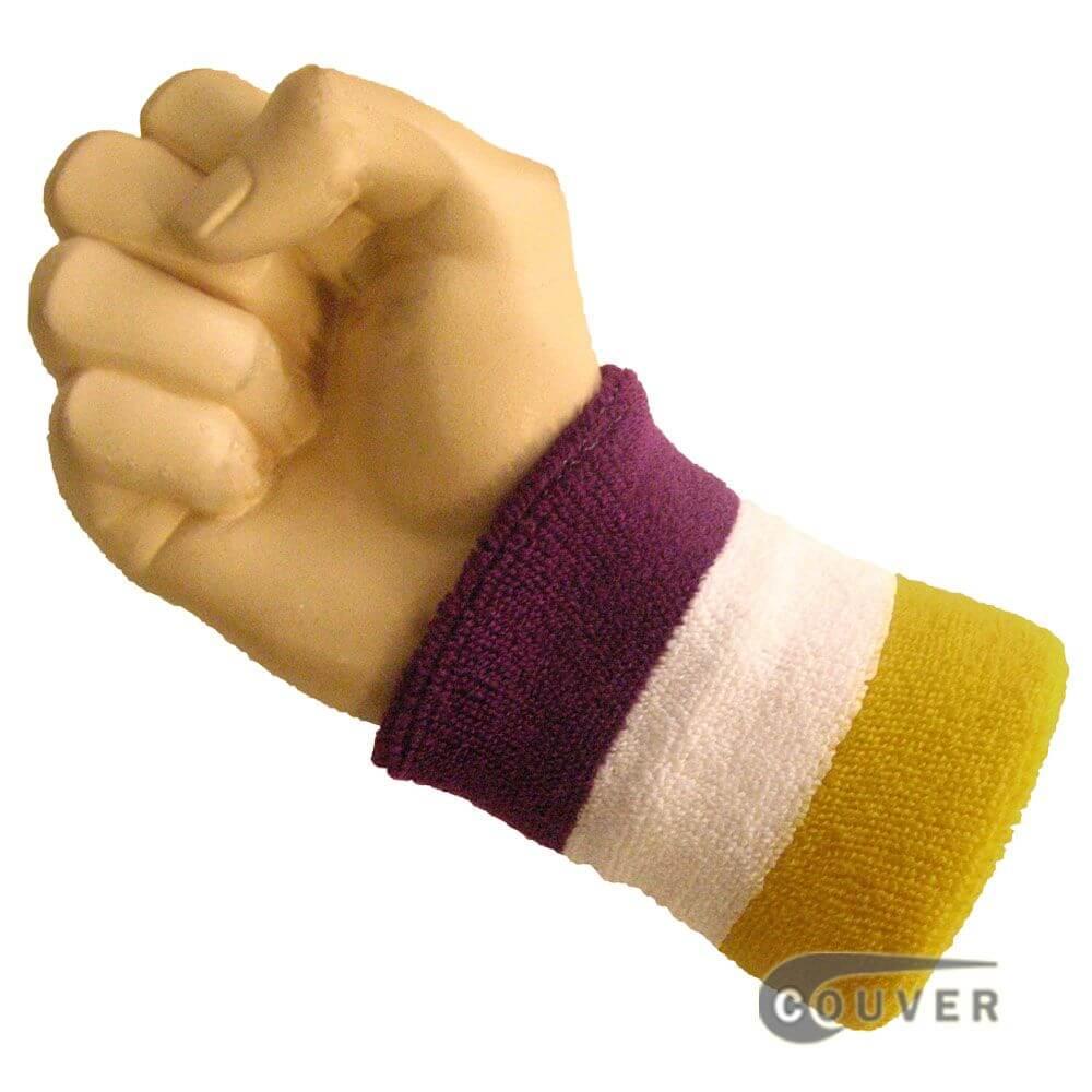 athletic sweat wrist band on arm