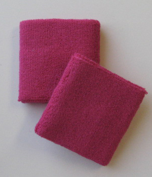 Hot Pink Wrist Sweatbands 4inch Wholesale