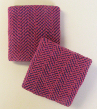 Skaters Hotpink Purple Diagonal Mini Check Wristbands [3pairs]