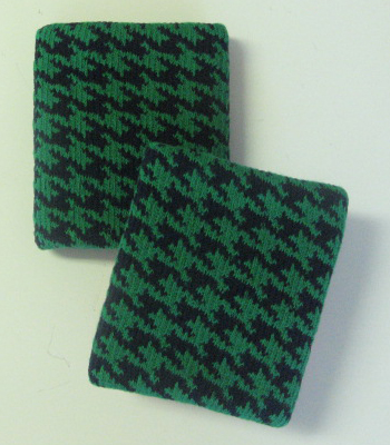 Urban Skaters Style Hounds Tooth Green Check Wristbands [3pairs]