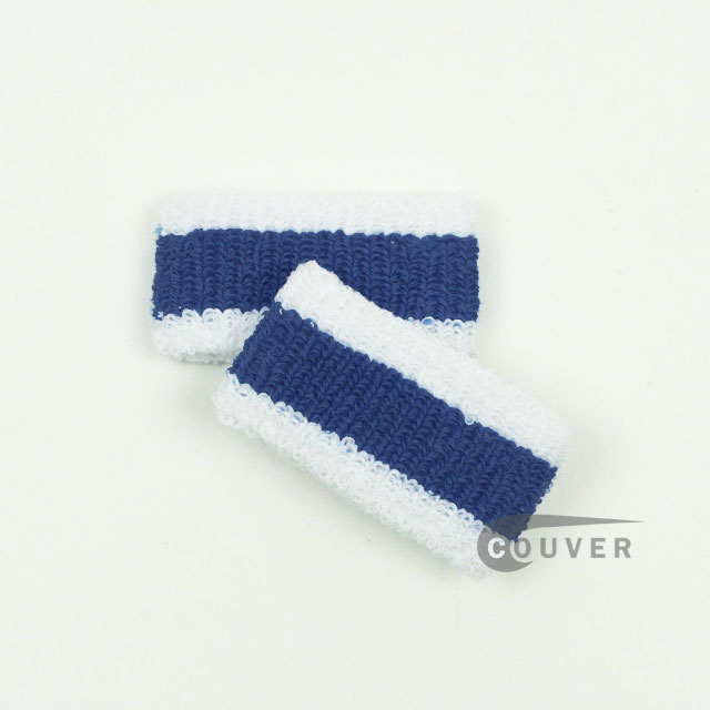 White Blue White Cheap 1inch Kids Wristbands Wholesale 6PAIRS