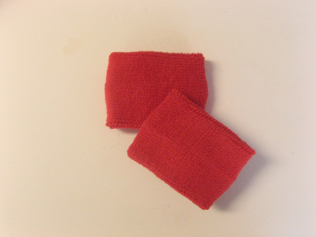 Wholesale Women's Red Athletic Terry Wrist bands