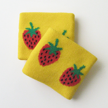 Cute Wristbands Yellow Strawberry for Girls Children [2pairs]